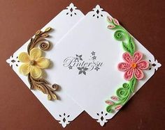 pergamano by pinterzsu on DeviantArt Paper Quilling Earrings, Paper Quilling Cards, Quilled Paper Art, Quilling Paper Craft, Paper Quilling Art Designs, Quilling Images, Paper Quilling Patterns, Quilling Animals, Money Envelopes