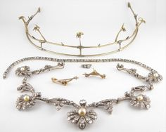 Necklace with frame to convert to a tiara.