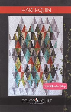 Harlequin Quilt Pattern Color and Quilt by Robin Pickens