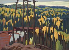 'Algoma Country', circa Sampson Matthews silkscreen print by Lawren Harris at Mayberry Fine Art. Click image to learn more about historical Sampson-Matthews seriagraph prints. Tom Thomson, Emily Carr, Canadian Painters, Canadian Artists, American Artists, Group Of Seven Artists, Ontario, Lauren Harris, Order Of Canada