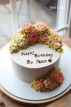 [Jess Cake]여자친구 생일을 위한 케익 : 네이버 블로그