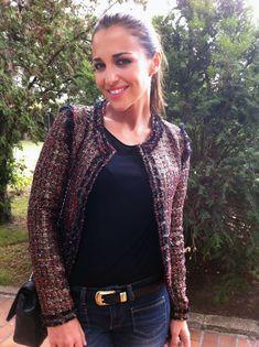 chaqueta de BDBA Classic Style, My Style, Lady Biker, Celebs, Celebrities, Tweed Jacket, Style Icons, Actresses, Blazer