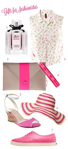 There's still time. Here are some great Mother's Day gift pink-themed ideas for the fashionista in your life.