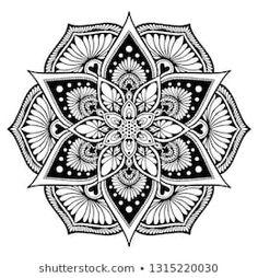 Coloring Books, Coloring Pages, Adult Coloring, Design Elements, Design Art, Yoga Logo, Unusual Flowers, Art Pages, Flower Shape