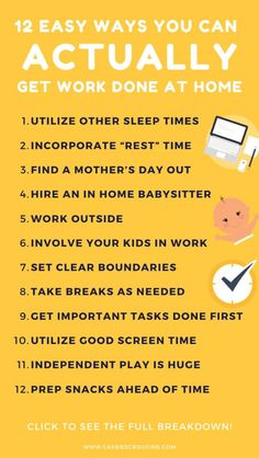 Work from home or really just need to get stuff done? Here are 12 ways you can ACTUALLY get work done at home when your child doesn't nap. How to work at home with kids | work at home | work at home tips | mompreneur tips | time management for moms | productivity for moms | mom hacks | work at home mom | working mom | remote work | make money from home | #cassiescrooggins #workathome #remotework #timemanagement Work From Home Moms, Make Money From Home, How To Make Money, Make Blog, How To Start A Blog, Mom Planner, Mom Schedule, Kids Work, Every Mom Needs
