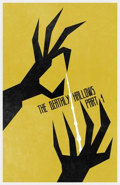 Harry Potter and The Deathly Hallows (Part 1) #Movie #Poster - Minimalist Movie Poster