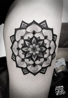 #tattoo #ink #inked #mandala #dots #bw