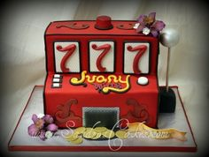 Slot Machine Cake for my Linny! We're getting married on her birthday and she LOVES to gamble!!