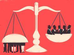 La balanza de la justicia aquí en Venezuela