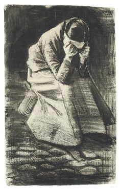 Weeping Woman Drawing by Vincent Van Gogh