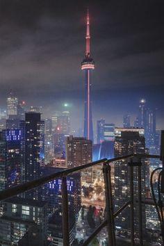 Toronto skyline by night Toronto Ontario Canada, Toronto City, Downtown Toronto, Toronto Skyline, Toronto Photography, City Photography, Toronto Pictures, Cool Pictures, Vancouver