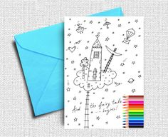 Greeting Card, Coloring Cards, Kids Coloring, Friendship Card ...