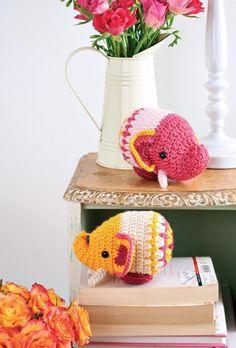 Crochet elephant toys