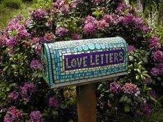 love letters-mosaic mail box