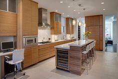 Built in wine fridge. Urban Residence - contemporary - kitchen - chicago - Nicholas Design Collaborative