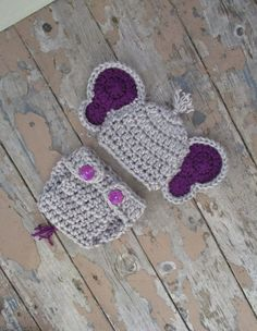 Crochet Baby Elephant Outfit Newborn Photo Prop