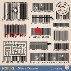 Vector Barcode design art 02