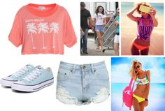 """""""spring break b!tches {spring breakers quote}"""" by strawberryqueen131 ❤ liked on Polyvore"""