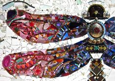 dragonfly mosaic art. This link goes to a really good source of mosaic tile, especially wonderful glass tiles.