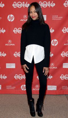 Best Dressed - Zoe Saldana. Photo by Getty Images.