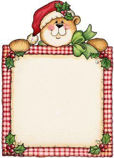 Christmas Bear...use on a chalkboard.