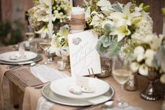 Vintage romantic Table and Place Setting Ideas, Wedding Reception Photos by Greer G Photography Wedding Reception Food, Wedding Table, Rustic Wedding, Bridal Table, Reception Ideas, Easter Table Decorations, Wedding Decorations, Pottery Barn Easter, Rehearsal Dinner Inspiration