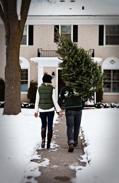 cute first christmas card idea. Maybe have to photoshop some snow Christmas Time Is Here, Noel Christmas, Merry Little Christmas, First Christmas, All Things Christmas, Winter Christmas, Christmas Cards, Christmas Decorations, Christmas Couple