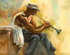 Into It, California art by Sid Bingham. HD giclee art prints for sale at CaliforniaWatercolor.com - original California paintings, & premium giclee prints for sale