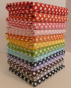 Small Dots from Riley Blake- Fat Quarter Bundle #rileyblakedesigns #flannel #dots