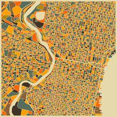 Map of Philadelphia, by Jazz Berry Blue.