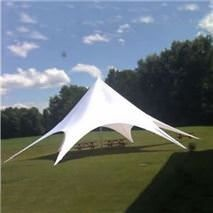 Star Shade Canopy The star shade canopy has elegant arches that add visual appeal and provide ease in entering the covered area. Shade Canopy, Canopy Tent, Outdoor Events, Outdoor Gear, Arches, Relax, Shades, Star, Elegant
