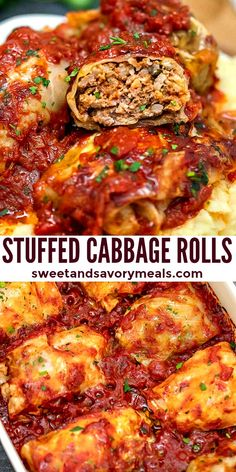 You Have Meals Poisoning More Normally Than You're Thinking That Stuffed Cabbage Rolls Are Hearty And Tasty, Filled With Rice, Ground Meat, And Cooked In A Delicious Tomato-Based Sauce Vegetable Recipes, Meat Recipes, Cooking Recipes, Healthy Recipes, Meat And Potatoes Recipes, Lasagna Recipes, Potato Recipes, Healthy Meals, Vegetarian