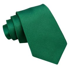 Plain Satin Regular Men's Tie