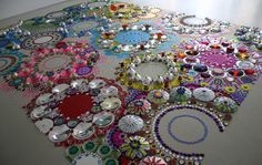 2006 Installation KUS Heerlen - Suzan Drummen -  beautiful fractal-like arrangements featuring elaborate circles of mirrors and brightly colored glass.