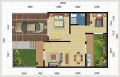 Desain Denah Rumah Tipe 60