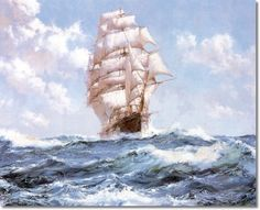 Montague Dawson Nautical Painting - The W. F. Babcock Clipper Ship Painting