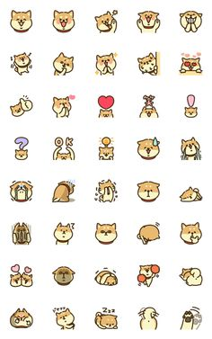 Find tips and tricks, amazing ideas for Corporate branding. Discover and try out new things about Corporate branding site Kawaii Doodles, Cute Kawaii Drawings, Cute Animal Drawings, Cute Doodles, Stickers Kawaii, Cute Stickers, Mini Drawings, Easy Drawings, Shiba Inu