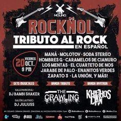 """El Molino presenta: """"Rockñol – Tributo Al Rock En Español"""" http://crestametalica.com/evento/molino-presenta-rocknol-tributo-al-rock-espanol/ vía @crestametalica"""