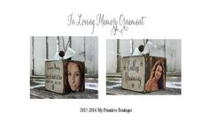 PERSONALIZED PHOTO ORNAMENT | In Loving Memory | Christmas Ornament | Loss of Loved One | Memorial Ornament | Wooden Block Ornament | Cube