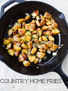 Skillet Home Fries With Herbs De Provence Recipe — Dishmaps