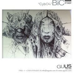 """BiC sketch """"Cyb04"""" via Guus Timmerman. Click on the image to see more!"""