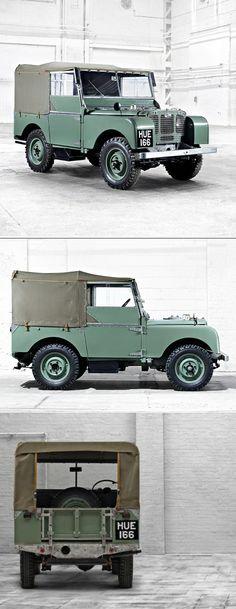 1948 Land Rover Series I / HUE166 / UK / green / 17-352