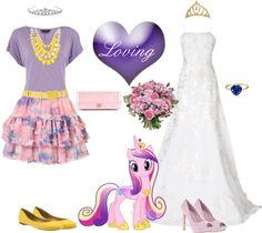 Princess Cadance  (My Little Pony Friendship is Magic) Inspired Outfit My Little Pony Clothes, My Little Pony Costume, My Lil Pony, My Little Pony Dress, Mlp, Rarity, Fandom Fashion, My Little Pony Friendship, Swag Style