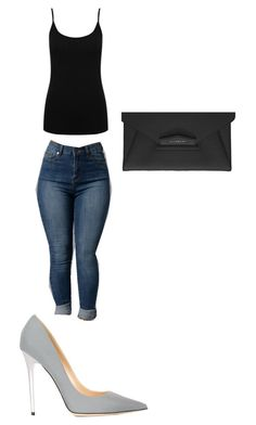 Simple day out by kushdoll on Polyvore featuring polyvore, fashion, style, M&Co, Jimmy Choo, Givenchy and clothing