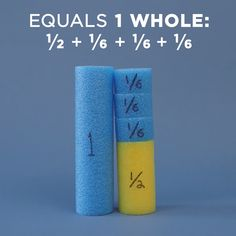 Teach students about fractions using the power of pool noodles. mathematik Here's a Fun Way to Teach Fractions Using Pool Noodles - WeAreTeachers Teaching Fractions, Math Fractions, Teaching Math, Multiplication Tables, Multiplication Worksheets, Math Math, 4th Grade Math Games, Lego Math, Adding Fractions