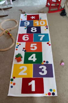 Sewing for kids toys motor skills 45 Ideas Indoor Activities For Kids, Games For Toddlers, Toddler Activities, Montessori Activities, Teaching Kids Colors, Hopscotch, Activity Toys, Sewing For Kids, Sewing Ideas