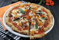 Pumpkin, Sausage & Sage Pizza ~ Perfect Pairing With Moretti Beer