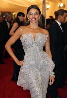 Sofia Vergara in Marchesa at the Met Gala 2012