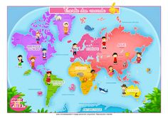 Messagerie - k. Montessori, Harmony Day, Continents And Oceans, Globe Crafts, Classroom Board, French Resources, World Crafts, Daycare Crafts, Teaching French