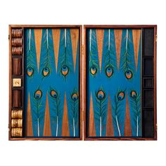 peacock backgammon set. I love backgammon and this peacock set is too cute!!